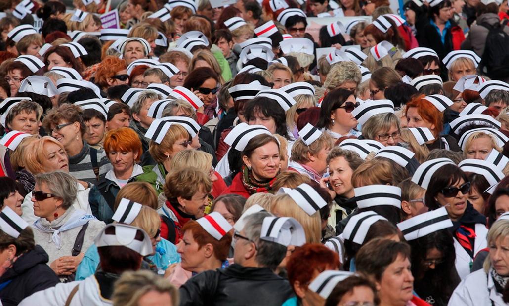 Nővérek, tüntetés, Lengyelország
