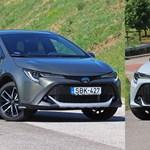 A sportos és a puttonyos terepes: éhezőművész új hibrid Toyota Corollákat teszteltünk