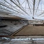 Fotók: november végére készen lehet a gyepszőnyeg a debreceni stadionban