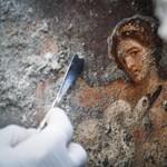 Ókori erotikus falfestményt fedeztek fel Pompejiben - fotók