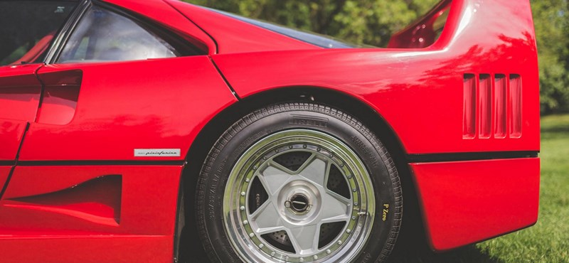 The 32-year-old but unused Ferrari F40 is waiting for its new owner